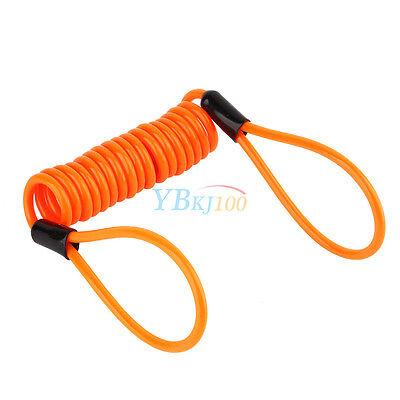 Nuovo Reminder Promemoria Antifurto Bloccadisco Cavo Spirale Cable Per Moto