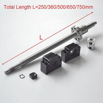 Rolled Ballscrew C7 Anti-backlash Ballnut L250360500650750mm