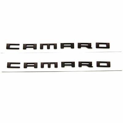 2pc BLACK Camaro fit chevy Fender Trunk  Emblem badge 2010 2011 2012 2013 14-17