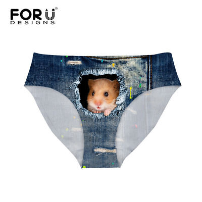For U Designs Women Briefs Hamster in Jeans Panties Ladies Lingerie Size Small](Lingerie For Small Women)