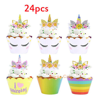tze 24 Kuchen Cupcake Wrapper Muffin Toppers Wrappers Anzug (Muffin-wrapper)