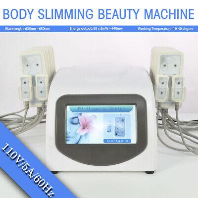 14 Laser Pad Lipolysis Fat Removal Lipo Massage Body Slimming Beauty Machine New