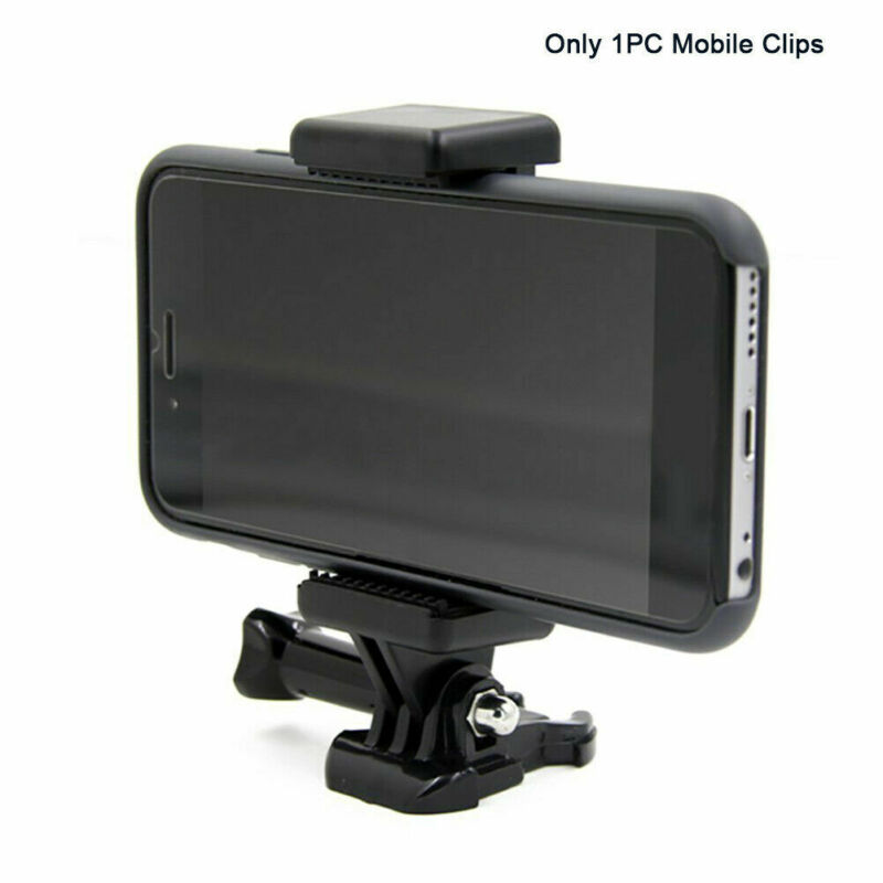 Cell Phone Clip Mount Tripod Adapter Holder for GoPro Attachment Accessories
