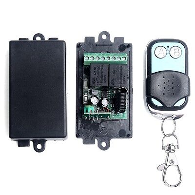 DC12V 2CH Channel Wireless RF Remote Control Switch Transmitter+ Receiver Hot