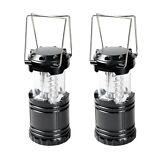 (2) Pack Camping Lantern Portable Collapsible 30 LED Night Light Lamp Flashlight