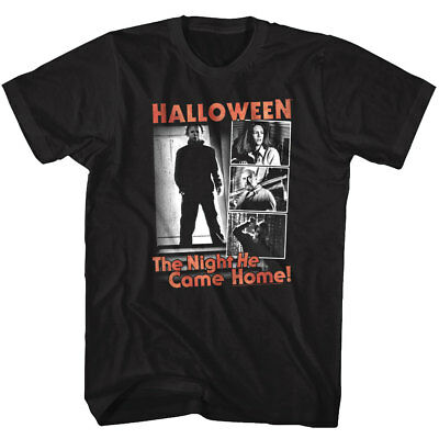 Halloween Horror Movie Stills The Night HE Came Home Men's T Shirt Michael Myers (Halloween Horror Nights Shirts)