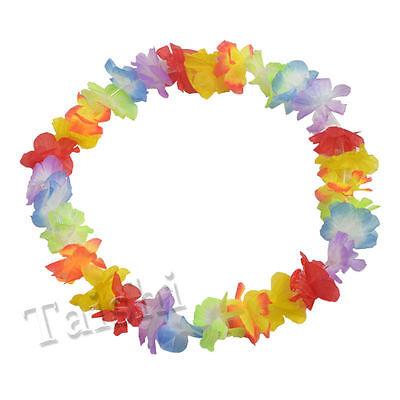 10X Fancy Hawaiian Flower leis Garland Necklace Dress/Party/Hawaii/Beach/Fun - Party Supplies Hawaii