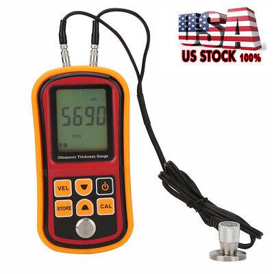 Lcd Display Digital Ultrasonic Metal Thickness Gauge Tester Measuring Tool