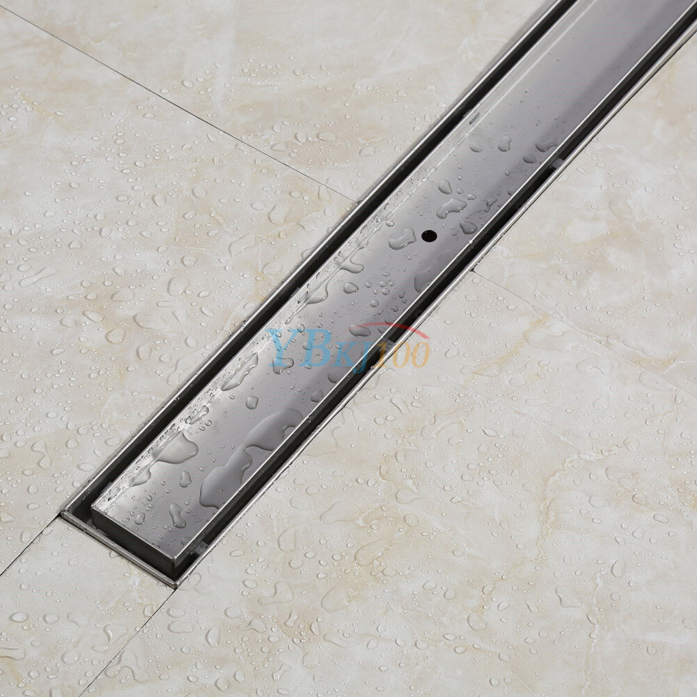 edelstahl duschrinne siphon bodenablauf ablaufrinne dusch ablauf 50 120cm light. Black Bedroom Furniture Sets. Home Design Ideas