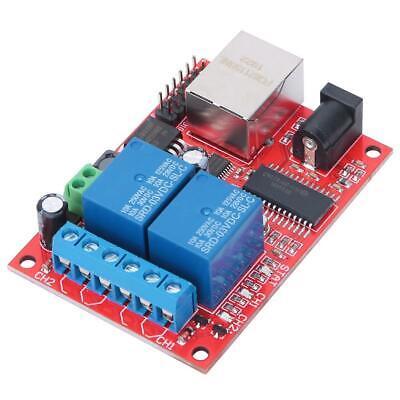Lan Ethernet 2 Way Relay Board Delay Switch Udp Controller Module Web Server New
