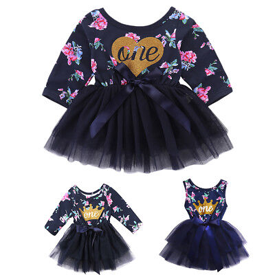 Baby 1st Birthday Floral Outfit Dress Heart  Tutus For Girls Cake Smash - Tutus For Babies 1st Birthday