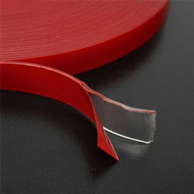 3 Meter Waterproof Tape - Double Sided Transparent Acrylic Foam Adhesive Tape Waterproof 6-50mm 3 Meters V