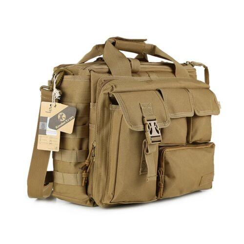"""Koolertron Vintage Tactical Military Handbag Shoulder Bag 15.6/"""" Laptop Case Tote"""