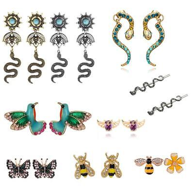 Fashion Women Butterfly/Snake/Birds Shape Earrings Ear Clip Eardrop Stud Jewelry