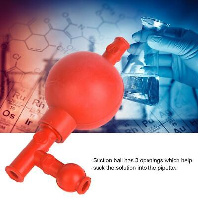 Red Lab Rubber Suction Bulb Safe Quantitative Pipette Ball With 3 Openings