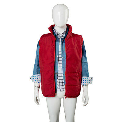 Marty Mcfly Halloween (Adult Men's Marty McFly Back to the Future Halloween Cosplay Costume Vest)