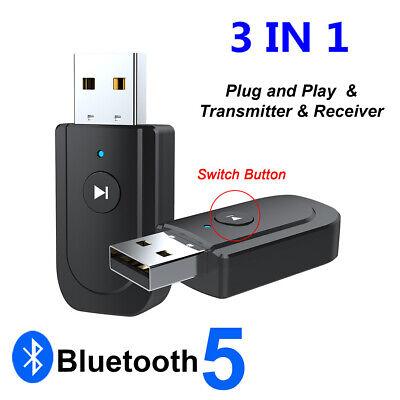 USB Bluetooth 5.0 Adaptador receptor del transmisor de audio For TV PC...