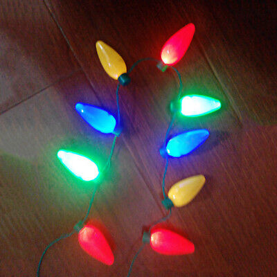 Unisex Rock Punk LED Light Up Christmas Jewelry Bulb Necklace Party Favors tall (Light Up Christmas Bulb Necklace)