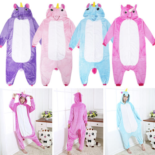 Mens Women Unicorn Fancy Cosplay Onesie Pajamas Adult ...