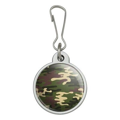 Green Camouflage Jacket Handbag Purse Luggage Backpack Zipper Pull Charm for sale  Shipping to India