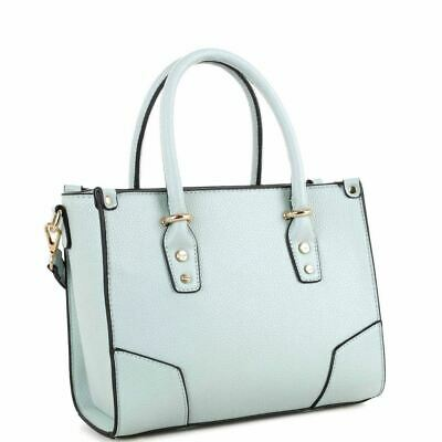 Classy Structured PU Leather 2-Way Medium Satchel Bag Purse