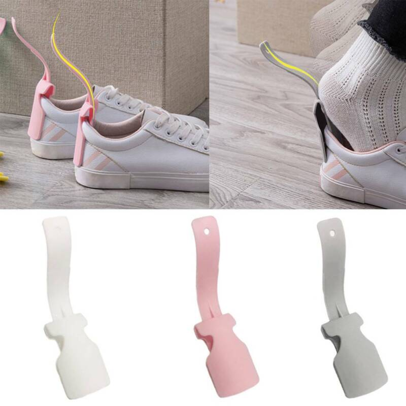 Portable Lazy Shoe Lifter Helper Unisex Handled Shoe Horn Easy on and Off