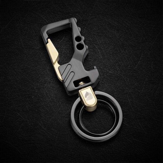 HUNGER Metal Bottle Opener Car Keychain Key Ring for Men Q54901