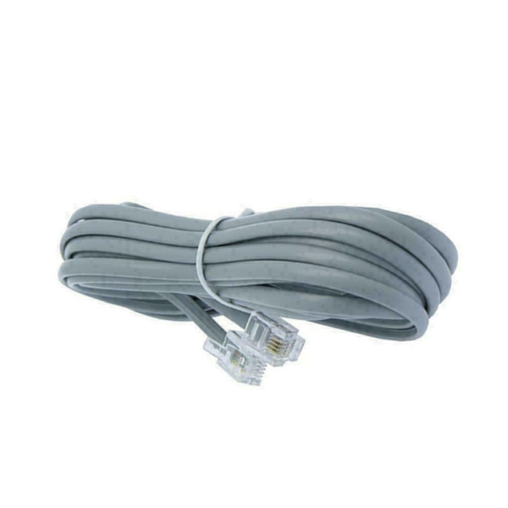 2-Pack 6FT Line Cord Cable 6P6C RJ12 RJ11 DSL Modem Landline