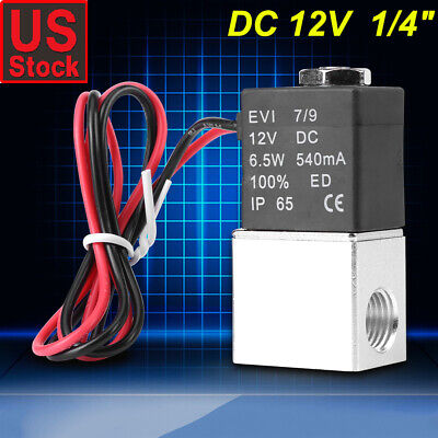 14 2-way Normally Closed Pneumatic Aluminum Electric Solenoid Air Valve 12v Dc
