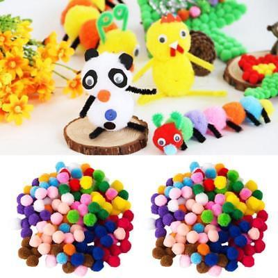 Hot 100pcs 8mm DIY Crafts mixed Color Mini Fluffy Pom poms Ball Felt