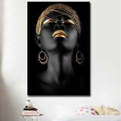 Abstract Home Decor - Modern Abstract Canvas Painting African Women Poster Home Art Decor Picture Gift