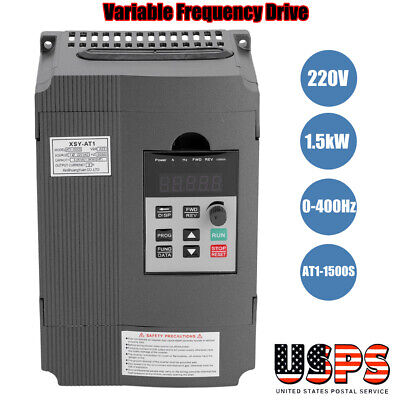Single3-phase Variable Frequency Drive Vfd Speed Controller 1.5kw Ac Motor 220v