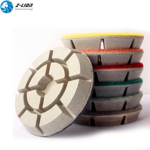 3pcs Floor Diamond Polishing Pads 4 For Granite Marble Concrete