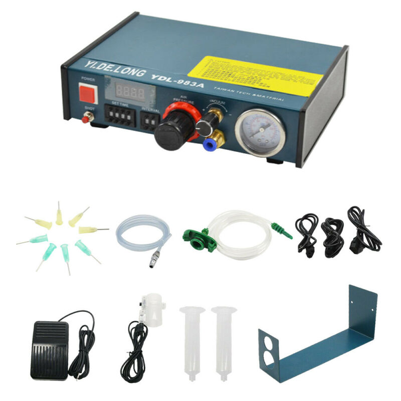 AUTO GLUE DISPENSER SOLDER PASTE DIGITAL DISPLAY LIQUID CONTROLLER DROPPER 983A