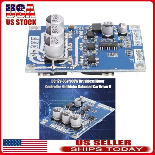 DC 12V-36V 500W Brushless Controller Hall Motor Balanced Car Driver Board