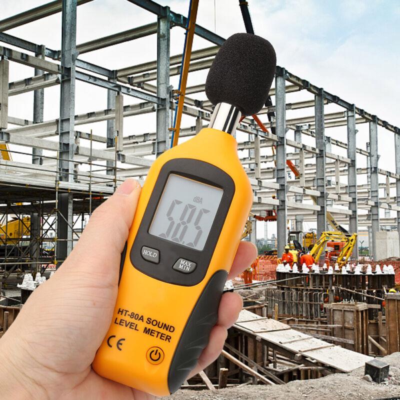 HT-80A LCD Sound Level Meter Noise Detect Tester Data Decibel logging 30-130dB