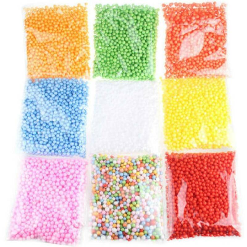 1Bag Styrofoam Filler Foam Beads Assorted Colors Mini Crafts