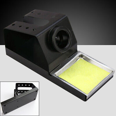 US Soldering Iron Stand Solder Base Welding Wire Holder+Cleaning Sponge For 936