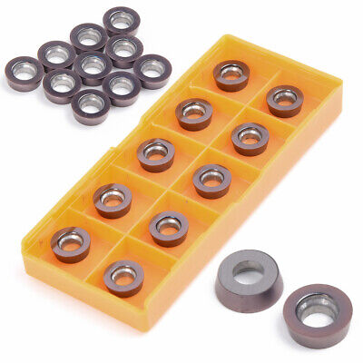 10pcs Set Carbide Inserts Cnc Cut-off Thread Grooving Lathe Milling Cutter Tool