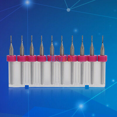 10pcs 0.8mm Carbide Drill Bits Engraving Bits For Cncpcb Milling Machine