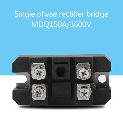 Mdq 150a Single-phase Diode Bridge Rectifier 150a Amp High Power 1600v Black New