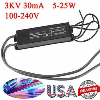 3kv 5-25w 30ma Neon Light Sign Power Supply Tool Electronic Transformer Ballast