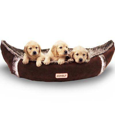 JOYELF Medium Orthopedic Dog Bed with Washable Cover Pirate Ship Dog Bed for