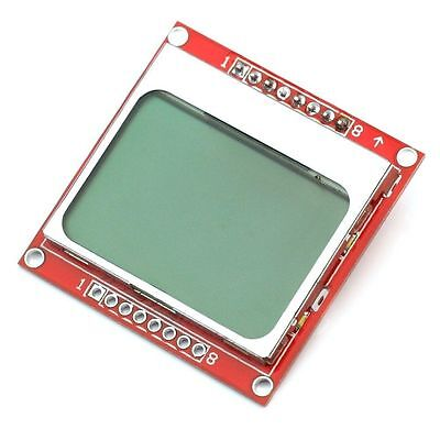 5pcs 84x48 8448 Nokia 5110 Lcd Module With Blue Backlight Adapter Pcb
