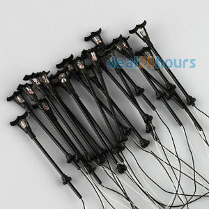 20pcs Model Single Head Garden Street Park Lights Lamppost HO Scale 1:100 Black
