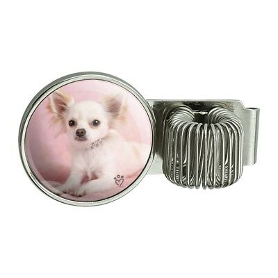 Chihuahua Puppy Dog Sitting In Pink Pen Holder Clip For Planner Journal Book