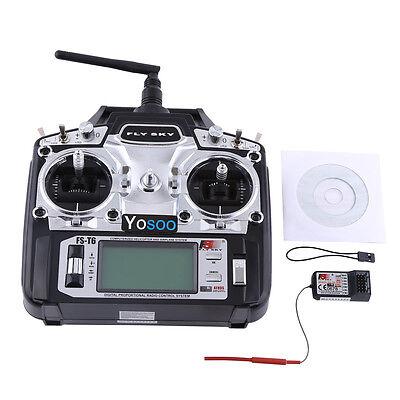 Flysky FS-T6 RB6 FS Fernsteuerung RC 2.4 GHz 6 Kanäle Sender Empfänger für Car