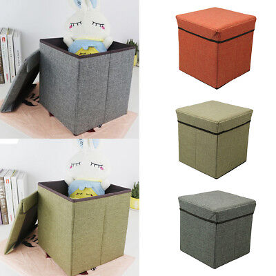 Cube Fabric Storage Bench Sofa Ottoman Seat Folding Foot Stool Footrest Nimble