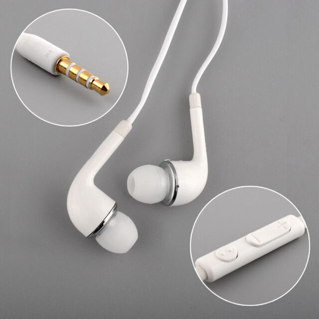 Hot Wired WHITE HEADSET HEADPHONES Earphone FOR SAMSUNG GALAXY S4 i9500