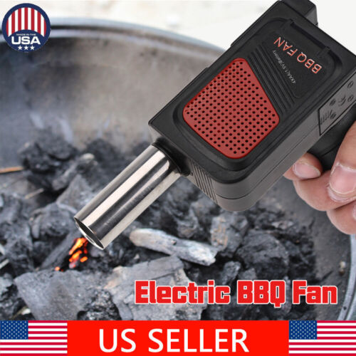 New US  Battery Powered BBQ Fan Air Blower Outdoor Camping P